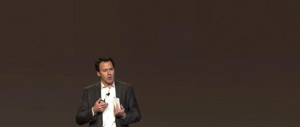 Tom Delivering Closing Keynote at Industry Conference